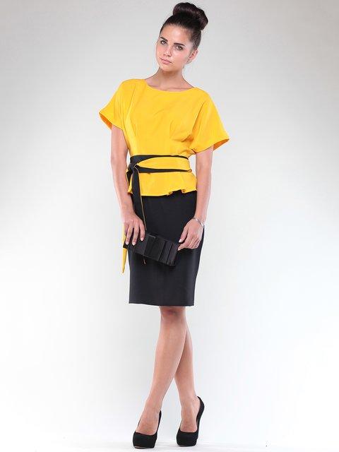 Платье желто-черное Rebecca Tatti 1850729