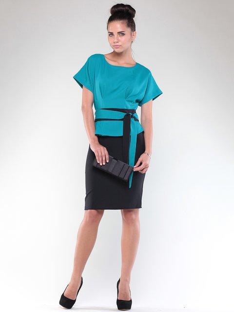 Платье бирюзово-черное Rebecca Tatti 1850730
