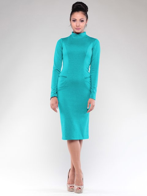 Платье цвета зеленой бирюзы Maurini 1839135
