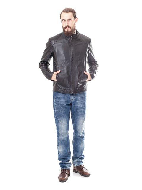Куртка темно-коричнева Pera Pelle 1853260
