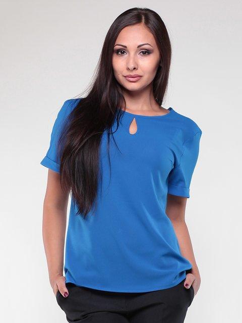 Блуза кольору електрик Dioni 1861156