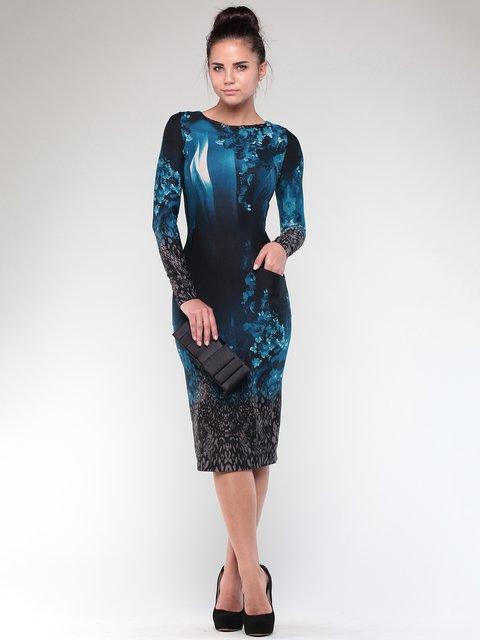 Платье темно-синее в принт Dioni 1861170