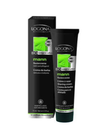 Крем для гоління «Кофеїн і гінкго» (75 мл) LOGONA 1861676
