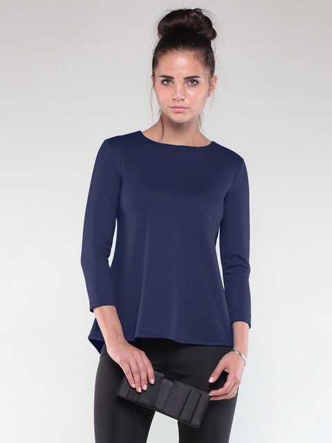 Блуза темно-синя Maurini 1850696