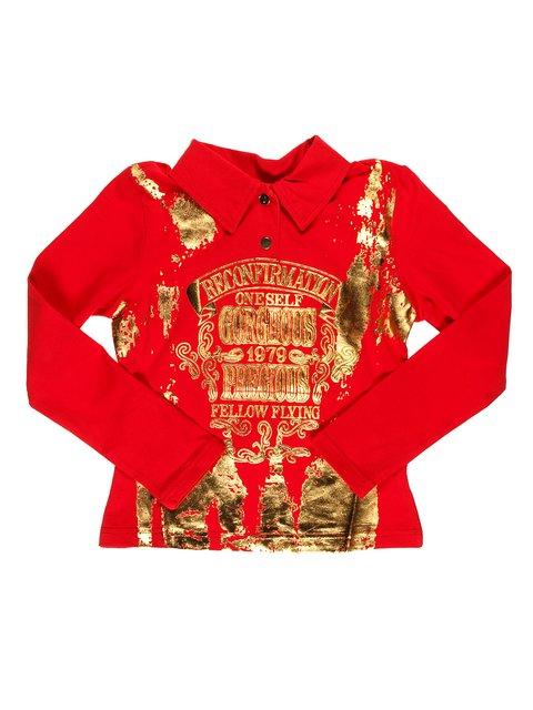 Джемпер красный Hoo Ponette 1878980