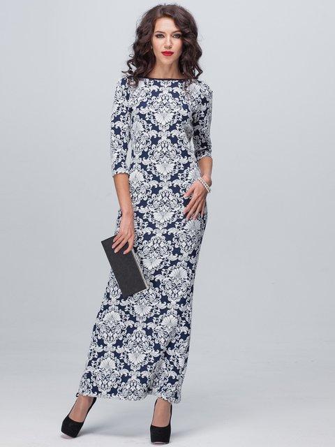 Сукня синьо-біла у візерунок Jet 1888708