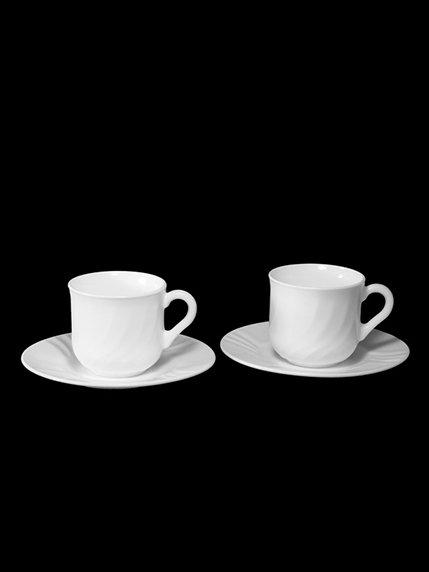 Набір чашок з блюдцями (6х250 мл) Bormioli Rocco 1891110