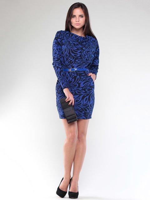 Сукня темно-синя в принт Laura Bettini 1896979