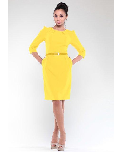 Платье желтое Dioni 1908628