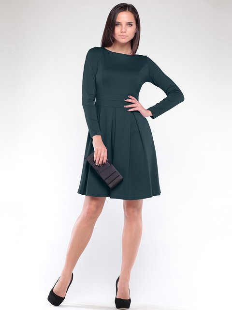 Платье темно-изумрудного цвета Dioni 1908631