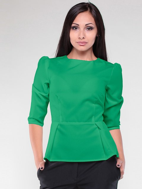 Блуза смарагдового кольору Maurini 1927064