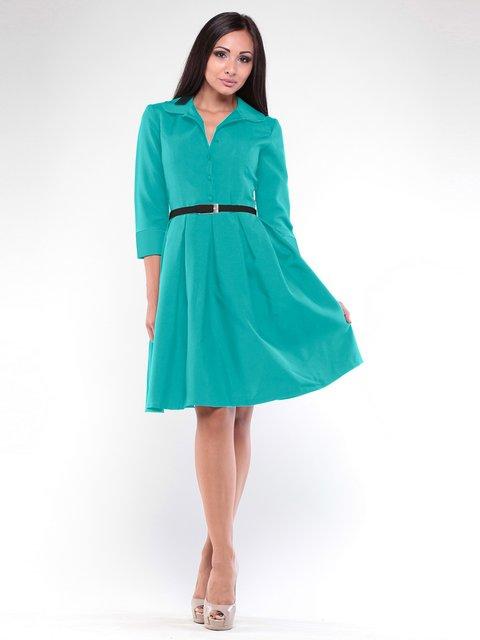 Платье темно-ментолового цвета Rebecca Tatti 1946849