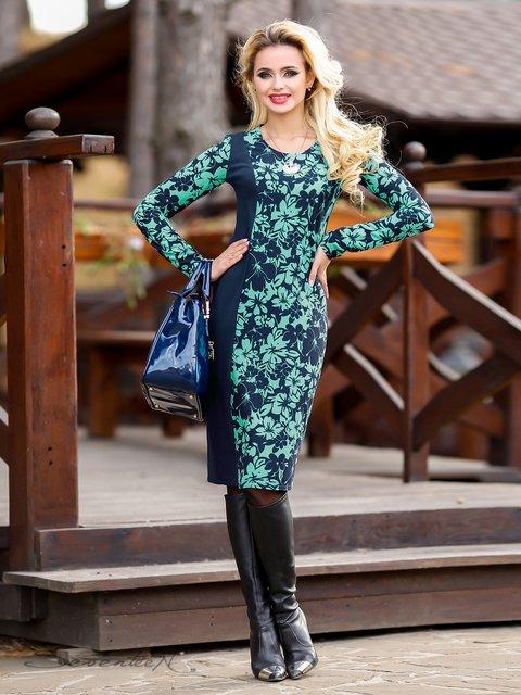 Сукня синьо-бірюзова в квітковий принт Seventeen 1946280