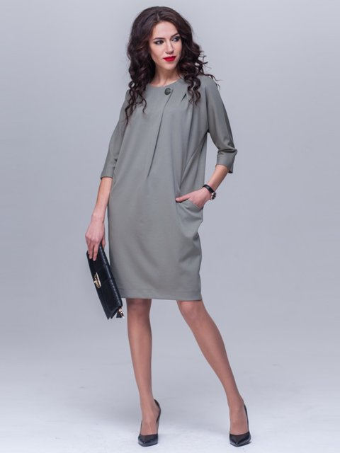 Платье оливкового цвета Jet 1969043