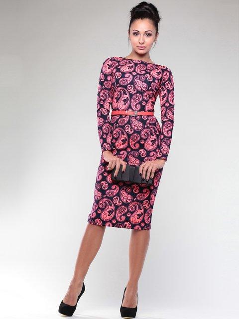 Платье в принт Rebecca Tatti 1970421