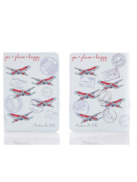 Обложка на паспорт You + Plane = Happy Веселі подарунки 1988253