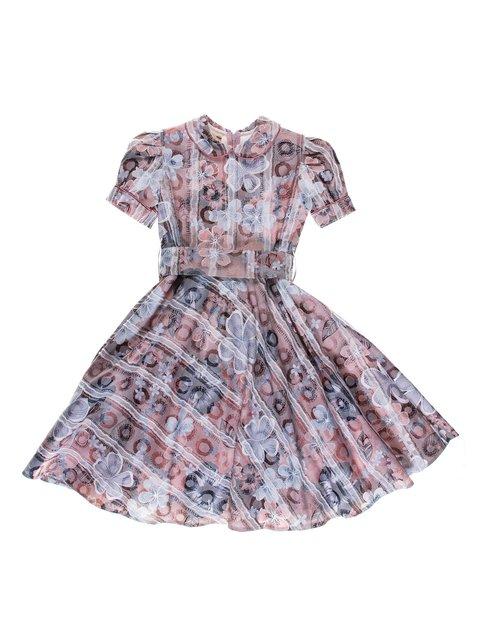 Сукня рожева у комбінований принт Anna-S 3342773