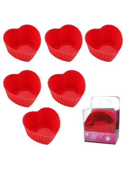 Набір форм для випічки «Серце» (6 шт.) S&T 2001529