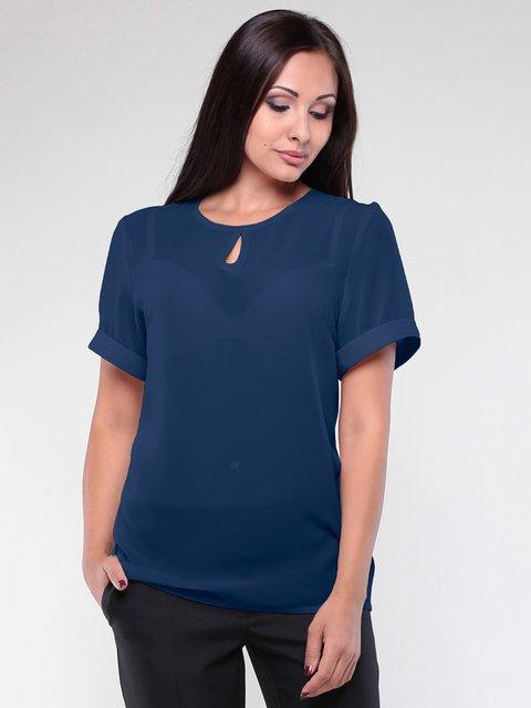 Блуза темно-синя Dioni 2005565
