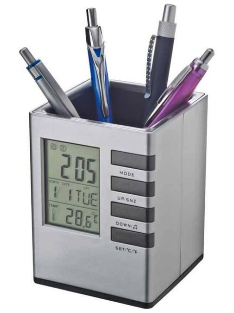 Настольная карандашница с часами Веселі подарунки 2012210