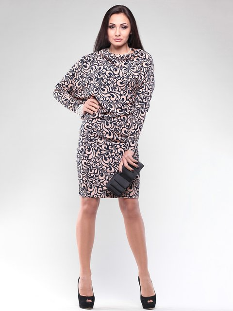 Сукня чорна в квітковий візерунок Rebecca Tatti 2029328