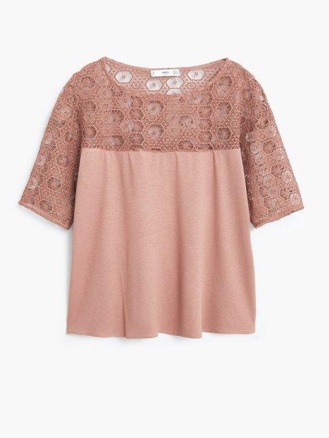 Блуза розовая Mango 1944804