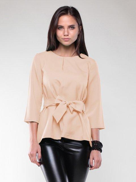 Блуза бежевая Rebecca Tatti 2067871