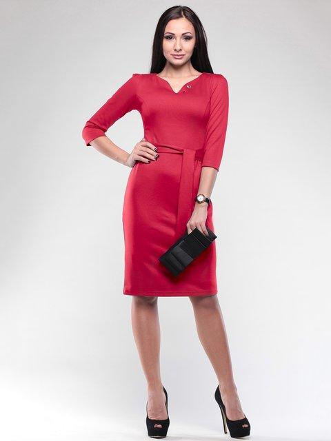Платье насыщенно-красное Rebecca Tatti 2067885