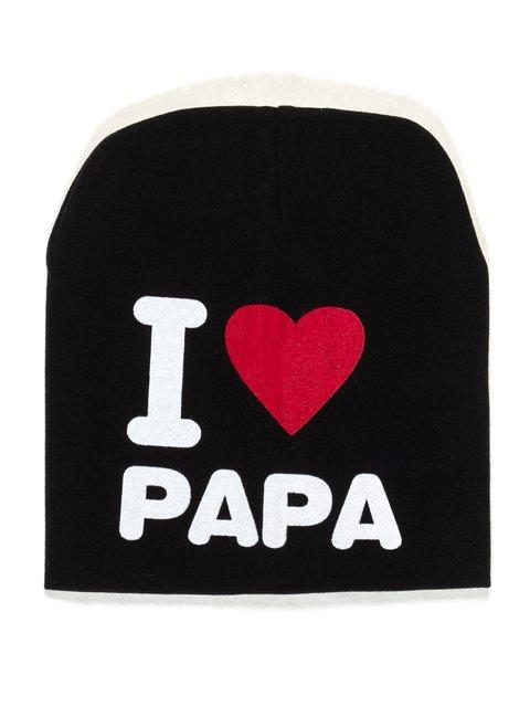 Шапка черная I love papa Bape 2073969
