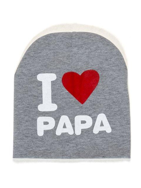 Шапка серая I love papa Bape 2073973