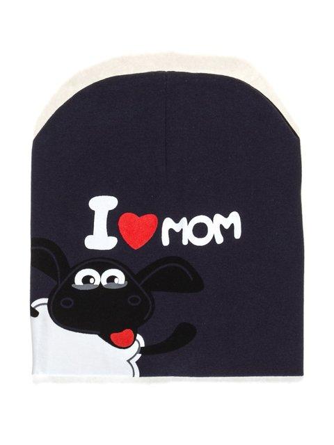 Шапка темно-синяя I love mom Bape 2073958