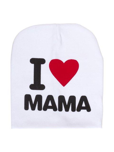 Шапка біла I love mama Bape 2073970