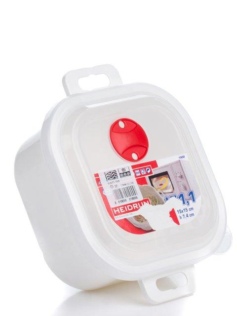 Квадратная емкость для СВЧ (1,1 л) HEIDRUN 2091304