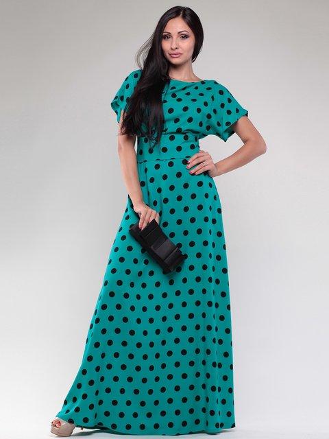 Сукня бірюзова в горох Dioni 2097746