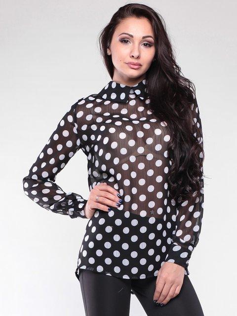 Блуза черная в горох Maurini 2111061