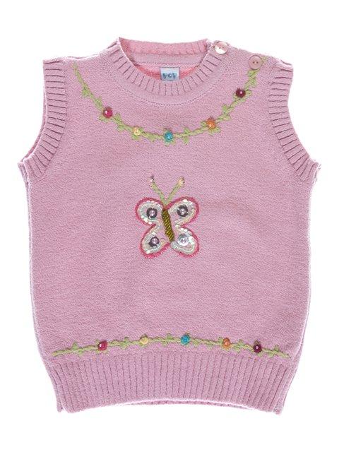 Жилет розовый утепленный Pop Kids 2056945