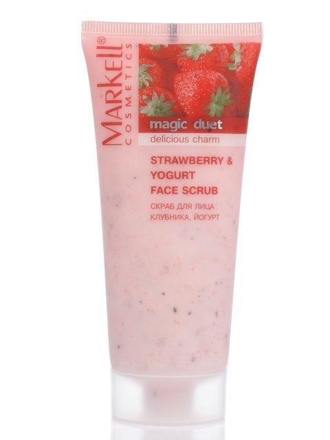 Скраб для обличчя «Полуниця і йогурт» (95 г) Markell 2121376
