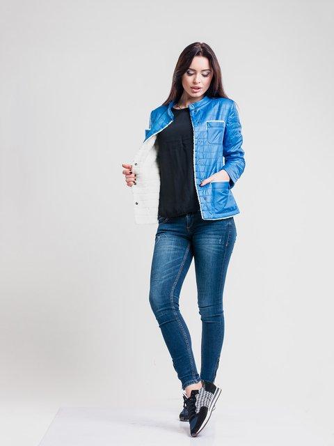 Куртка блакитна Button 2116216