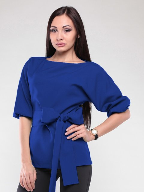 Блуза цвета электрик Laura Bettini 2126504