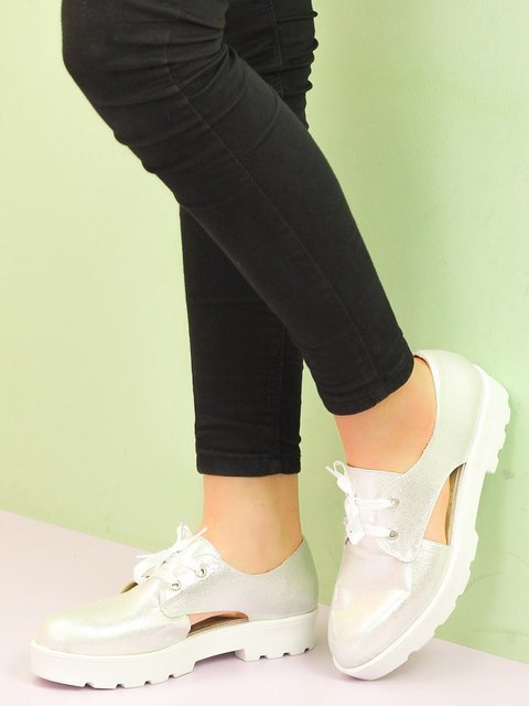 Туфли серебристые Limoya 2137574