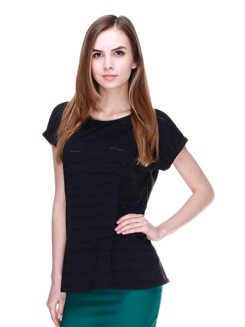 Блуза чорна Pieces 2192992