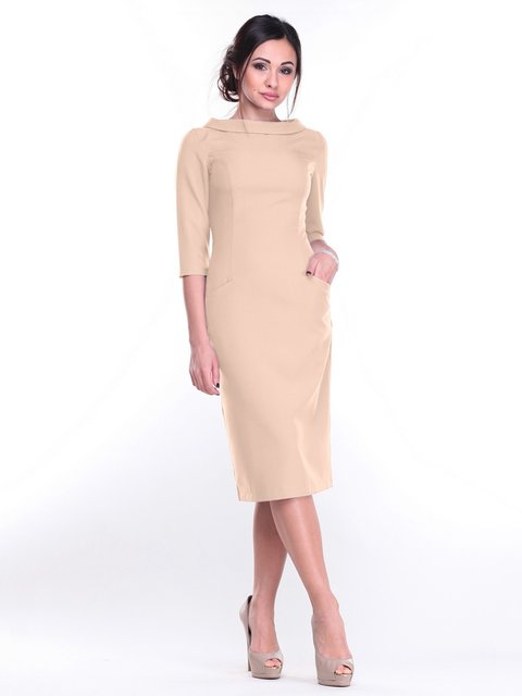 Платье бежевое Maurini 2212925