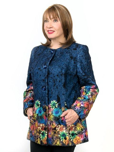 Жакет синий с цветочным принтом LibeAmore 2211724