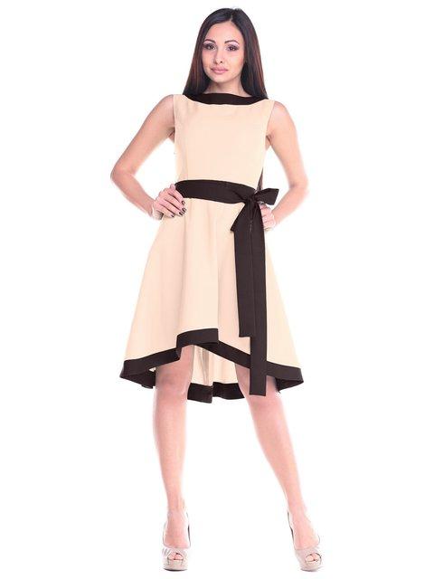 Сукня бежево-шоколадна Maurini 2235370