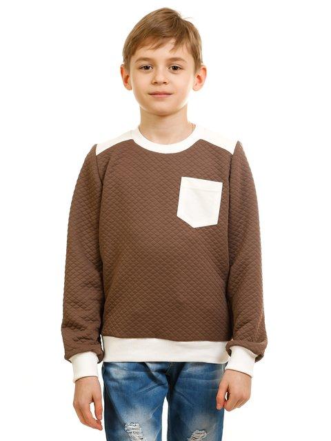 Джемпер коричнево-белый Kids Couture 2171396