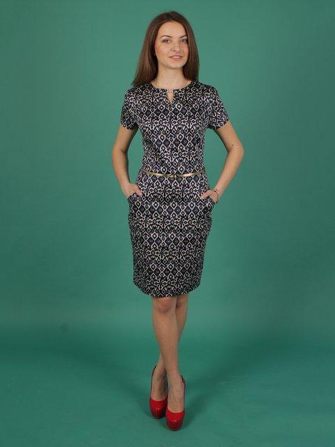 Платье серое в принт VSV 2278948