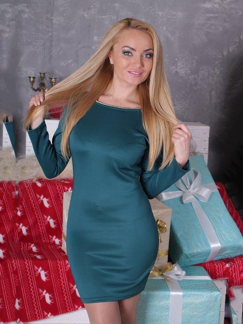 Платье цвета морской волны VSV 2278969
