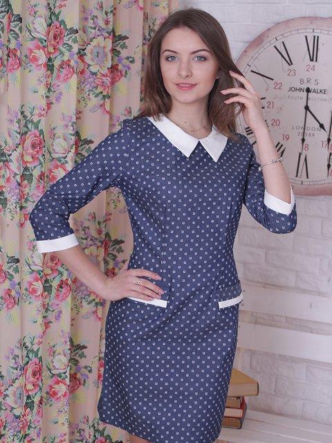 Платье синее в принт VSV 2278991