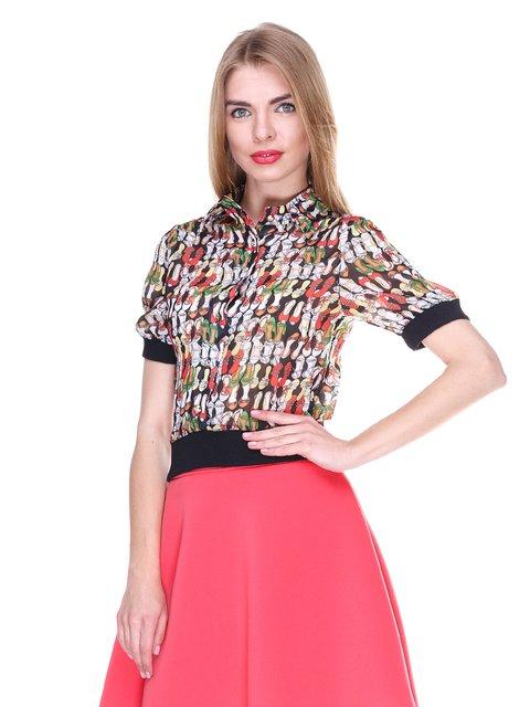 Блуза черная с принтом MOONLIGHT 2273978