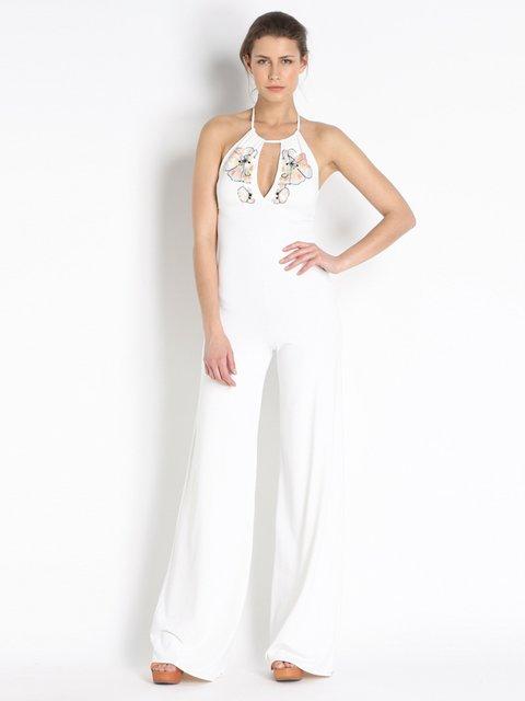 Комбинезон белый с декором Fisico 2296212